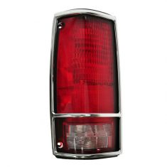 Chevy S10 Tail Light With Chrome Bezel Driver Side