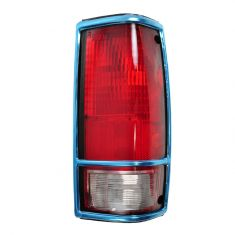 Chevy S10 Tail Light With Chrome Bezel Passenger Side