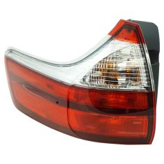 15-17 Toyota Sienna (exc SE) Outer Body Mounted Red & Clear Taillight LR