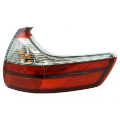 15-17 Toyota Sienna (exc SE) Outer Body Mounted Red & Clear Taillight RR