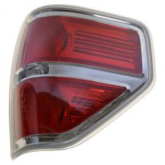 09-14 Ford F150 Styleside Taillight w/Chrome Bezel RH (Ford)