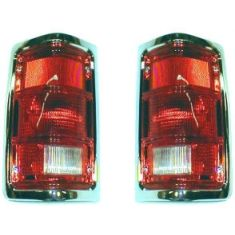 1988-93 Dodge Truck Tail light Chrome Pair