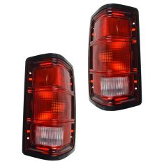 1988-96 Dakota Tail Light with Black trim Pair