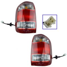 1999-04 Nissan Pathfinder Tail Lamp Pair (from 12/98 Prod Date)