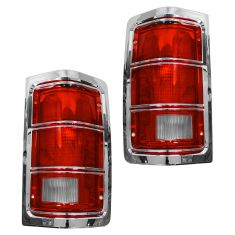 81-87 Ddge PU Taillight Chr Pair