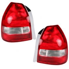 99-00 Honda Civic 3dr Hatchback Taillight Pair