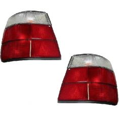 1989-95 BMW 540i Tail Light Red and Clear Pair