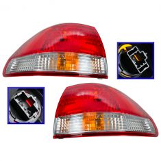 01-02 Honda Accord Tail Light Pair for Sedan