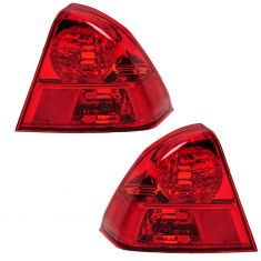 2003-05 Honda Civic Tail Light Pair for Sedan