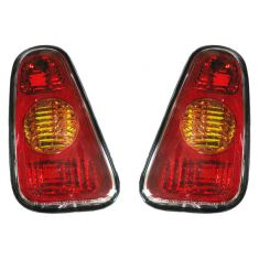 2002-06 Mini Cooper; 207 Cooper Conv Tail Light w/o Clear Lens PAIR