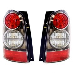 04-06 Mazda MPV Tail Light Pair With Black Bezel