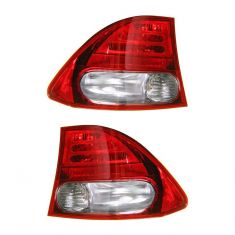 09-10 Honda Civic, Civic Hybrid SDN Outer Taillight PAIR