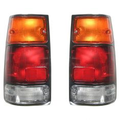88-97 Isuzu Amigo Rodeo Pickup Honda Passport Tail Light With Black Bezel PAIR