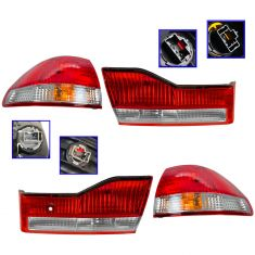 01-02 Honda Accord Sedan Inner & Outer Taillight SET of 4