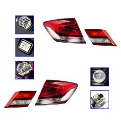 13 Honda Civic Sedan Inner & Outer Taillight SET of 4