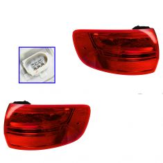 09-13 Audi A3 (w/o Rear Fog Lamps) Outer Taillight PAIR