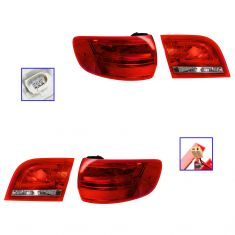 09-13 Audi A3 (w/o Rear Fog Lamps) Inner & Outer Taillight SET of 4
