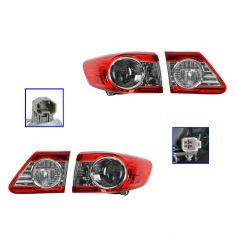 11-12 Toyota Corolla (NA Built) Inner & Outer Taillight SET of 4