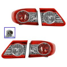 11-12 Toyota Corolla (Japan Built) Inner & Outer Taillight SET of 4