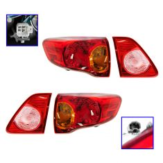 09-10 Toyota Corolla (US Built) Inner & Taillight/Reverse SET of 4