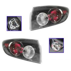 04-06 Mazda 3 Sedan Performance w/Clear Turn Signal Outer Taillight PAIR