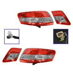 10-11 Toyota Camry (US built) Inner & Outer Taillight SET of 4
