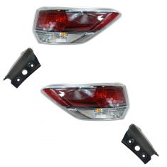 14 Toyota Highlander Outer Taillight PAIR