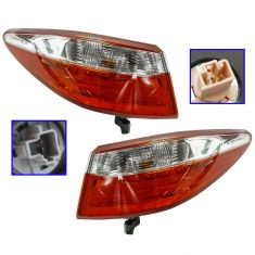 15 Toyota Camry; 16 Camry (w/Clear Reverse Lens) Outer 1/4 Panel Mounted Taillight Pair