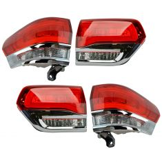 14-15 Jeep Grand Cherokee (exc SRT) Inner & Outer Taillight SET of 4