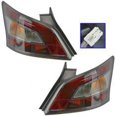 12-14 Nissan Maxima Outer 1/4 Panel Mounted Taillight Pair