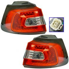 14-15 Jeep Cherokee Outer 1/4 Panel Mounted Taillight Pair