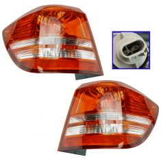 10-17 Dodge Journey (Non LED w/Single Bulb) Outer Taillight (1/4 Mtd) Pair