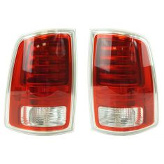 13-17 Ram 1500; 13-16 2500, 3500 L.E.D. Design w/Chrome Trim Taillight LH RH Pair