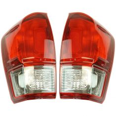 16-17 Toyota Tacoma w/Smoked Lens Taillight LH RH Pair
