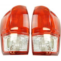 16-17 Toyota Tacoma w/Red Lens Taillight LH RH Pair