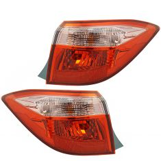 17- Toyota Corolla Sedan Outer Taillight LH RH Pair