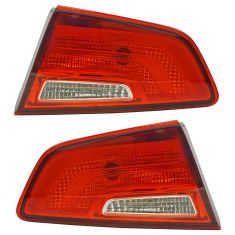 14-15 Kia Optima (US Built) (Halogen Bulb Type) Outer Taillight LH RH Pair