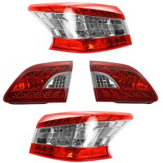 13-15 Nissan Sentra Inner & Outer Taillight Set of 4
