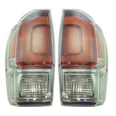 16-17 Toyota Tacoma w/Clear Lens Taillight LH RH Pair