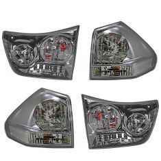 04-06 Lexus RX330; 07-09 RX350 Inner & Outer Taillight Set of 4