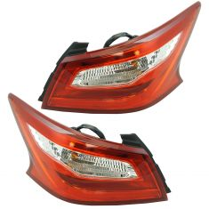 16-17 Nissan Altima Outer Tail Light Pair