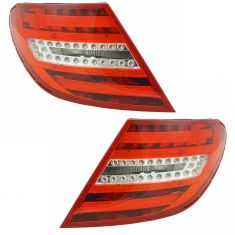 12-15 Mercedes Benz C-Class Tail Light Pair