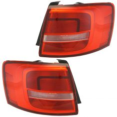 15-16 VW Jetta (Base, TDI, TSI) (Non L.E.D., Non Smoked) Outer Taillight Assy Pair