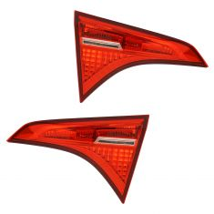 17-18 Toyota Corolla (Trunklid Mounted) ALL RED (w/LED Reverse Light) Taillight Assembly Pair