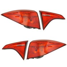17-18 Toyota Corolla w/ LED Reverse Light Inner & Outer Tail Light Kit Set of 4