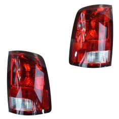 09-14 Dodge Ram 1500; 10-14 Ram 2500, 3500 (Non LED Type) Taillight Assy Pair (Mopar)