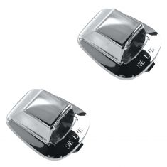 97-02 Dodge Dakota w/Chrome Rear Step Bumper License Plate Light Lens & Housing Pair (Mopar)