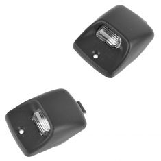 05-07 Toyota Tacoma; 07-08 Tundra Rear Bumper Mounted License Plate Light Lens w/Hsg Pair (Toyota)