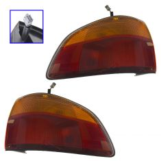 98-00 Toyota Sienna Outer (1/4 Panel Mtd) Taillight Assembly Pair (Toyota)