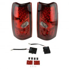 99-07 Silverado, Sierra Fleetside Performance Red Lens LED Taillight Pair